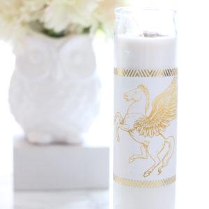 Gold Pegasus Candle